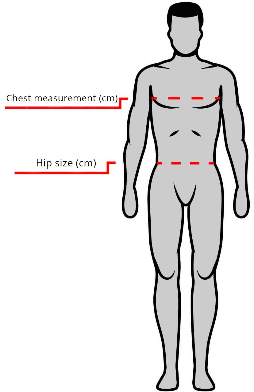 MEN MEASUREMENT CHART