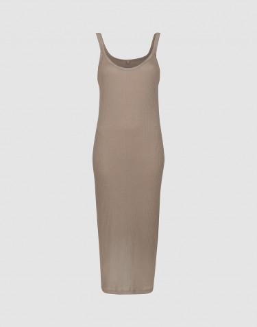 Women's strap rib dress - Sand