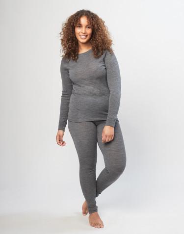 Women's merino wool leggings - grey