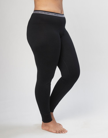 Women's organic merino wool leggings black
