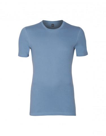 Men's premium classic cotton T-shirt- blue