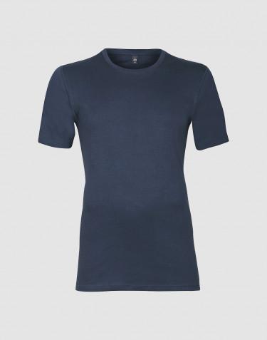 Men's premium classic cotton T-shirt- dark blue