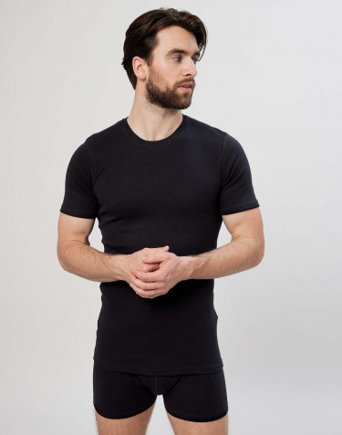 Men's premium classic cotton T-shirt- black