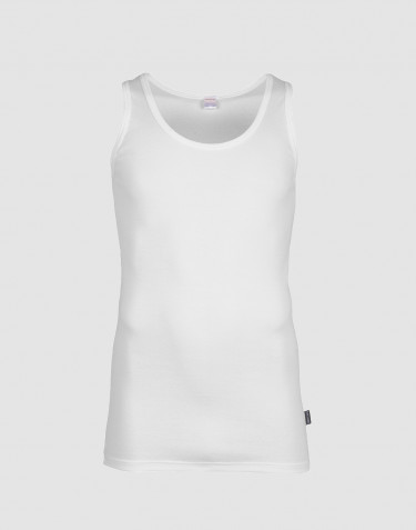 DILLING men's plus size tank top- white