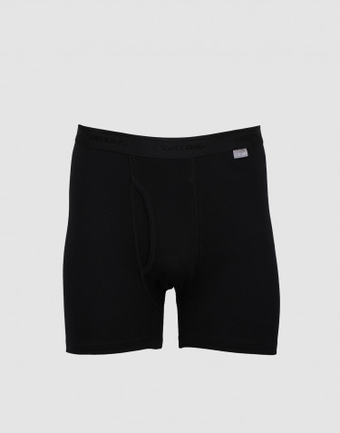 DILLING men's plus size cotton boxer shorts with fly- black