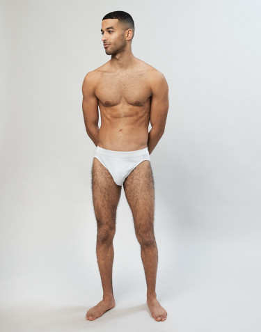 Men's sports briefs- White