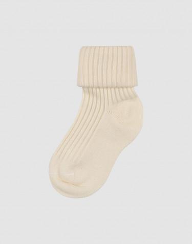 Baby organic merino wool socks- nature