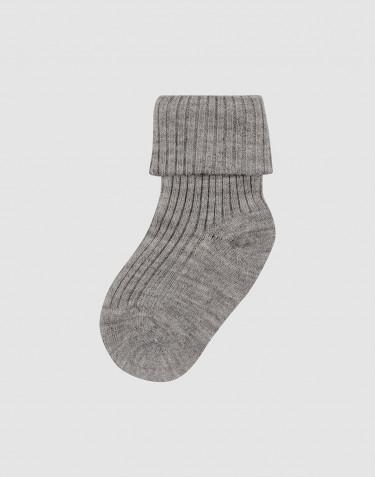Baby organic merino wool socks- grey melange