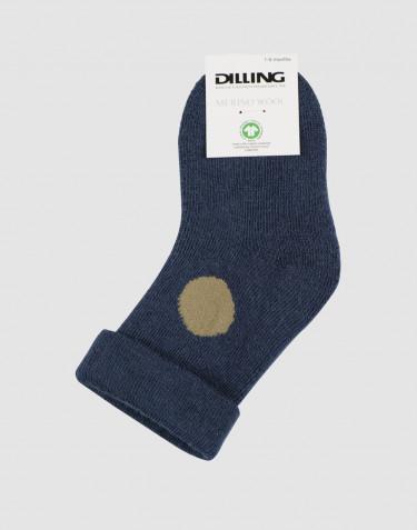 Baby wool terry socks- dark petrol blue