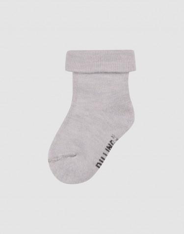 Children's wool terry socks- Light grey