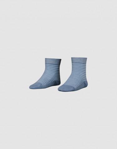 Children's organic merino wool socks- Dusty blue