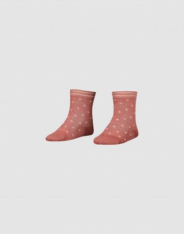 Children's organic merino wool socks- Dark pink