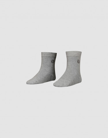 Children's organic cotton socks- Grey melange