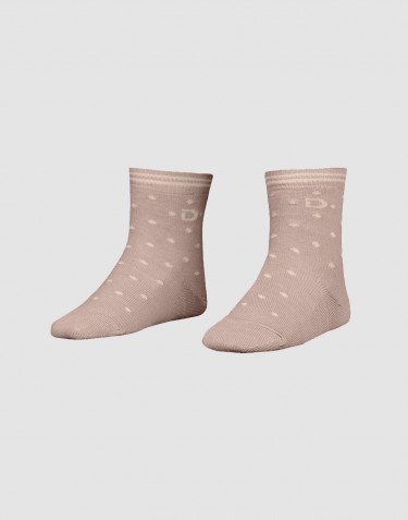 Children's organic merino wool socks- old rose