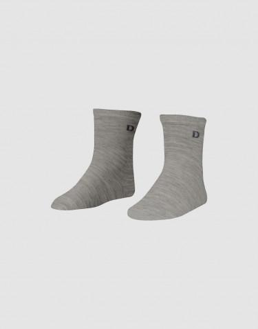 Children's organic merino wool socks- grey melange