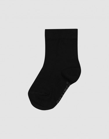 Children's organic merino wool socks- black