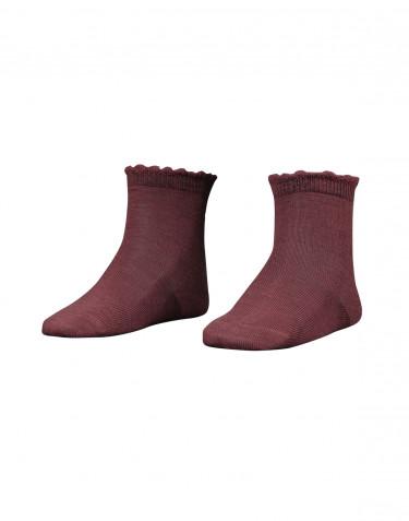 Children's merino wool socks- rouge