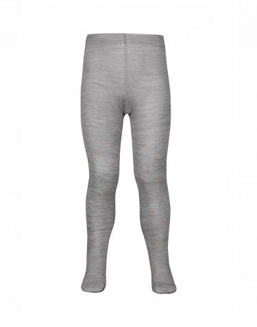 Children's organic merino wool tights- grey melange