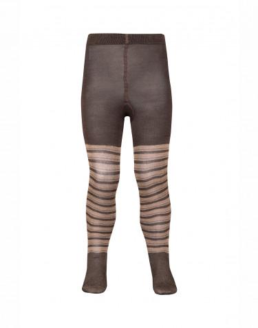 Children's organic merino wool tights- fudge/pink
