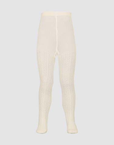 Children's hollow pattern tights- Nature