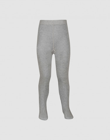 Children's organic cotton tights- Grey melange