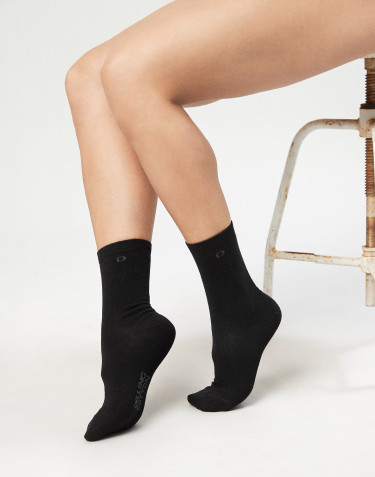 Women's organic cotton socks- black