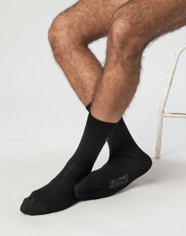 Men's organic merino wool socks- black