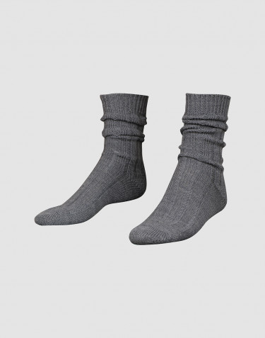 Cozy wool socks for men dark grey mélange