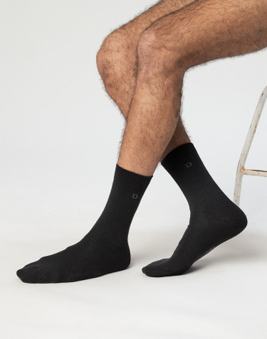 Men's organic cotton socks- black