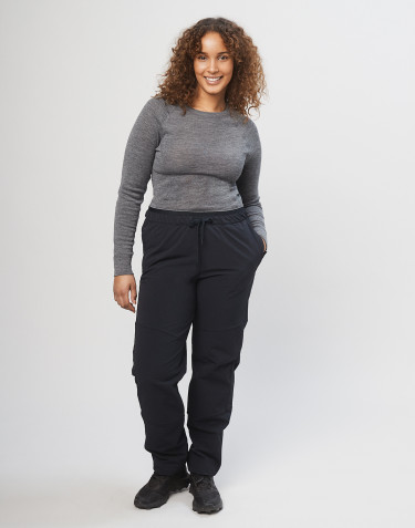 Women's softshell trousers - Black