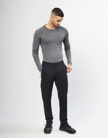 Men's softshell trousers - Black