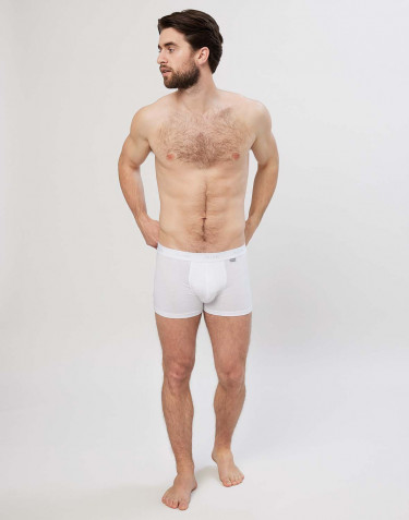 Men's cotton boxer shorts- white
