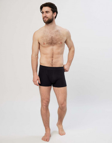 Men's cotton boxer shorts- black