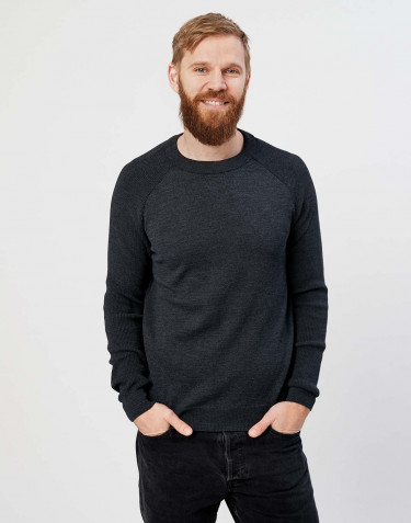 Men's knitted pullover- dark grey