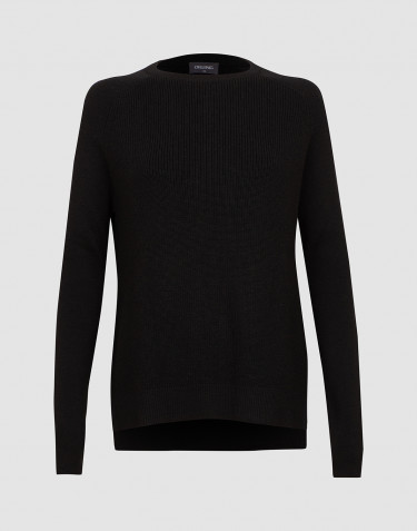 Women's knitted sweater- Black