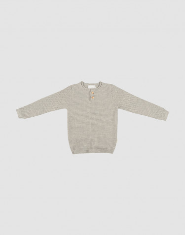 Children's knit sweater- Grey melange