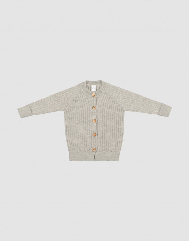 Baby knit cardigan- Grey melange