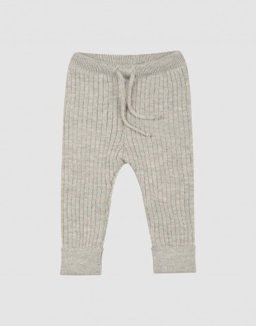 Baby knit trousers- Grey melange