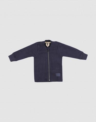 Baby merino wool fleece jacket- Blue