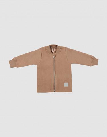 Baby merino wool fleece jacket- Cinnamon