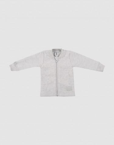 Baby merino wool fleece jacket- Light Grey