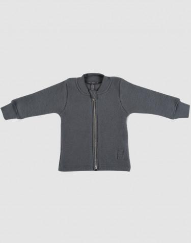 Baby wool fleece coat- dark grey