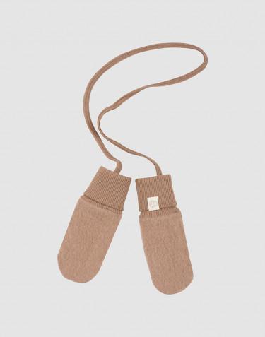 Baby merino wool fleece mittens- Cinnamon