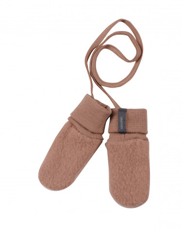 Baby wool fleece gloves- powder