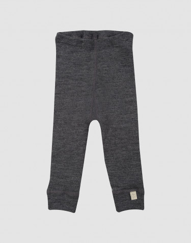 Baby organic merino wool long johns- grey melange