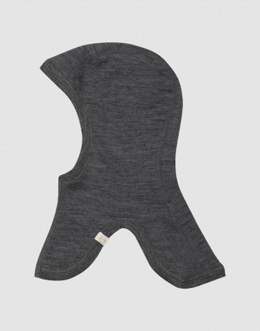 Organic merino wool balaclava- dark grey melange