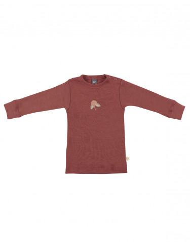 Baby merino wool long sleeve top- rouge