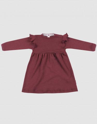 Baby natural merino wool dress- Christmas red