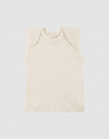 Baby merino wool tank top- nature