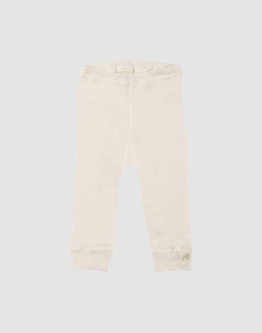 Baby merino wool long johns- nature